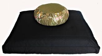 Boon Decor Meditation Cushion Set Japanese Silk Zafu - Orchid