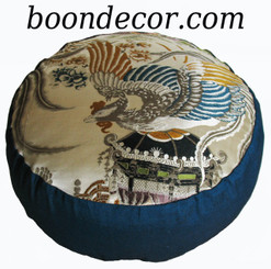 Boon Decor Meditation Cushion - Antique Japanese Obi - Rising of the Phoenix