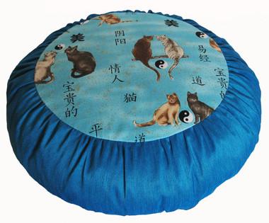 Boon Decor Meditation Pillow Zafu Cushion - Limited Edition - Yin Yang Cats SEE COLORS