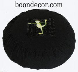 Boon Decor Meditation Cushion Buckwheat Pillow - Limited Edition - Yoga Frog SEE POSES