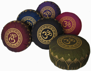 Boon Decor Meditation Cushion 7 h Buckwheat Kapok Fill Zafu Pillow Om in Lotus SEE COLORS