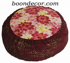Boon Decor Meditation Pillow Zafu Cushion - Ltd Edition Pink Lotus Pond Gold Droplets SEE COLORS