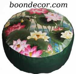 Boon Decor Zafu Combination Fill Meditation Cushion - Rare Find Fabrics - Lotus Sanctuary Collection