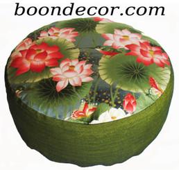 Boon Decor Meditation Cushion Zafu - Combination Fill - Lotus Sanctuary Collection