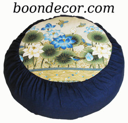 Boon Decor Meditation Cushion Zafu - Limited Edition - Blue Lotus Sanctuary