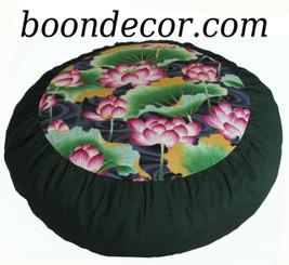 Boon Decor Meditation Cushion Zafu - Limited Edition - Lotus Garden Collection - Green