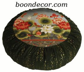 Boon Decor Meditation Cushion Zafu Pillow - Ltd Edition Lotus Sanctuary w/Gold Droplets SEE COLORS