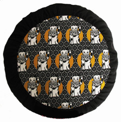 Boon Decor Meditation Cushion Zafu - Limited Edition - Japanese Lucky Cats