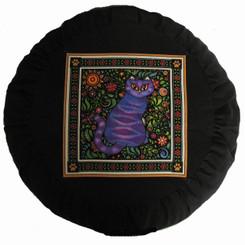 Boon Decor Meditation Cushion Zafu - Celestial Garden Cats Collection - Garden Cat #10