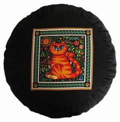 Boon Decor Meditation Cushion Zafu - Celestial Garden Cats Collection - Garden Cat #4