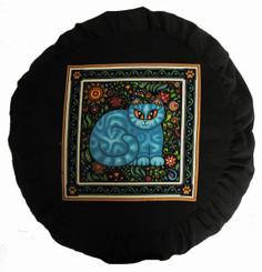 Boon Decor Meditation Cushion Zafu - Celestial Garden Cats Collection - Garden Cat #6