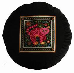 Boon Decor Meditation Cushion Buckwheat Zafu - Celestial Garden Cats Collection #7