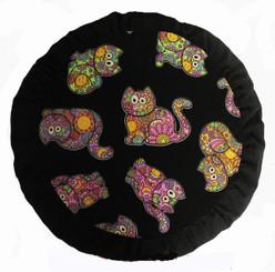 Boon Decor Meditation Pillow Celestial Garden Cats Zafu Cushion Collection - SEE COLORS