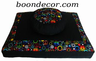 Boon Decor Zafu and Zabuton Meditation Cushion Set - Limited Edition - Retro Collection