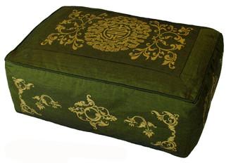 Boon Decor Meditation Cushion Rectangular Zafu Pillow Longevity Celestial Vine SEE COLORS