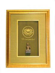Boon Decor Shadow Box Art Avalokiteshvara Statue - Lotus-Om Mani Padmi Hum