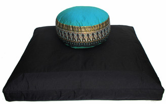 Boon Decor Black Zabuton Meditation Cushion Set - One of a Kind - Indochine Fabric SEE COLORS