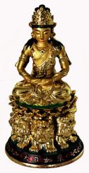 Boon Decor Avalokiteshvara Figurine 5 Painted Resin