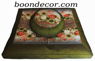 Boon Decor Meditation Cushion Zafu and zabuton Set - Limited Edition - Lotus Sanctuary Collection