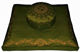 Boon Decor Meditation Cushion Set Zafu Pillow and Zabuton Floor Mat Om Universe SEE COLORS