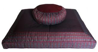 Boon Decor Meditation Cushion Set Zafu and Zabuton - Global Weave SEE CHOICES