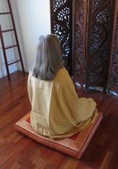 Boon Decor Meditation Shawl - 100percent Organic Cotton Back View