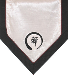 Boon Decor Altar Cloth Or Wall Hanging - Embroidered Zen Circle White