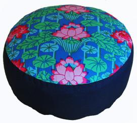 Boon Decor Meditation Cushion - Combination Fill Limited Edition Lotus Lake Blossoms Blue