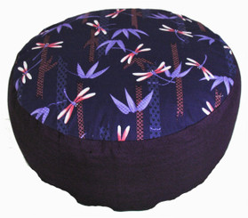 Boon Decor Meditation Cushion Combination Fill Zafu - Dragonflies in the Bamboo Forest - Limited Edition