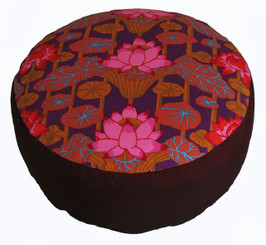 Boon Decor Meditation Cushion Combination Fill Zafu - Lotus Lake Blossoms - Limited Edition