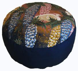 Boon Decor Meditation Cushion Combination Fill Zafu - Egret in Wisteria Garden - Limited Edition