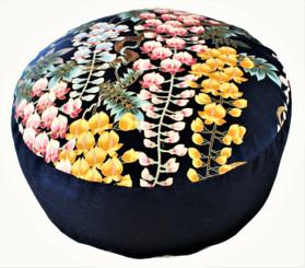Boon Decor Meditation Cushion Combination Fill Zafu - Wisteria Garden One-of-a-Kind