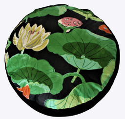 Boon Decor Meditation Cushion Combination Fill Zafu - Koi in the Lotus Pond One of a Kind