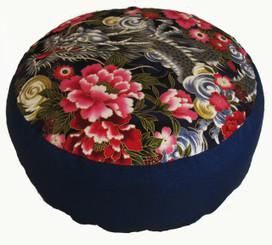 Boon Decor Meditation Cushion Combination Fill Zafu Benevolent Dragon in Peony Garden