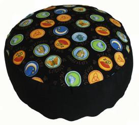 Boon Decor Meditation Cushion Combination Fill Zafu - Limited Edition - Zen Harmony - Black
