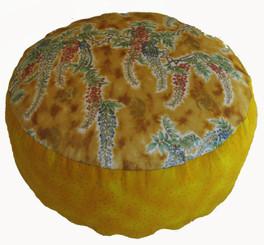 Boon Decor Meditation Cushion Combination Fill Zafu - Symphony in the Breeze Golden Yellow