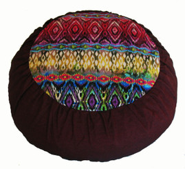 Boon Decor Meditation Cushion - Rare Find Limited Edition Zafu - Spice Road - Burgundy