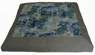 Boon Decor Meditation Cushion Floor Mat - Limited Edition Zabuton Blue Dragons of the Far East