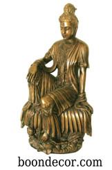 Boon Decor Kuan Yin - Royal Ease Posture - Solid Bronze 19