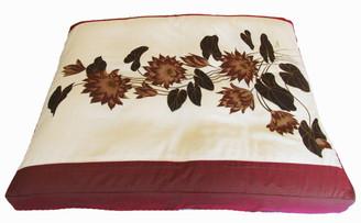 Boon Decor Meditation Cushion Floor Mat One-of-a-Kind Zabuton Lotus Blossoms