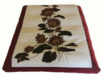 Boon Decor Meditation Cushion Floor Mat - One of a Kind Zabuton Lotus Blossoms SEE CHOICES