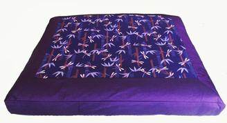 Boon Decor Meditation Cushion Floor Mat Zabuton Dragonflies in the Purple Bamboo Forest