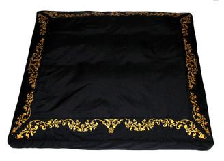 Boon Decor Zabuton Japanese Meditation Floor mat Black Vine 34x30x6