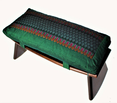 Boon Decor Meditation Bench Set Cushion and Folding Seiza Ikat Print SEE PATTERN and COLOR CHOICES