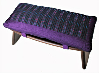 Boon Decor Meditation Bench Set and Cushion - Folding SeizaGlobal Weave SEE COLORS