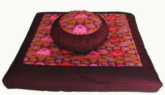 Boon Decor Meditation Pillow Set Zafu Zabuton Lotus Lake Blossoms SEE COLORS