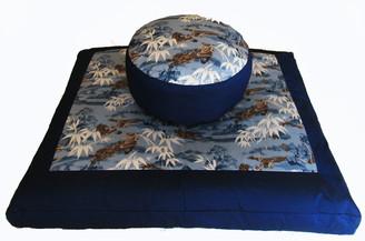 Boon Decor Meditation Cushion Combination Zafu Set Benevolent Dragon in the Blue Mist Mountains