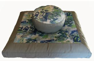 Boon Decor Meditation Cushion Set Zabuton and Combination Zafu - Ltd Edition Blue Dragons of the Far East