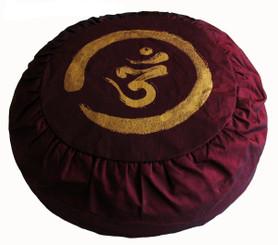Boon Decor Meditation Pillow Zen Zafu Buckwheat Cushion Calligraphy Om SEE COLORS