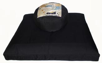 Boon Decor Black Zabuton Meditation Cushion Set Phoenix Rising